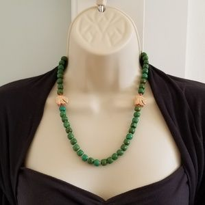 Native american stone bead necklace